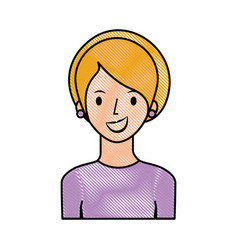 portrait happy woman female young lifestyle vector image