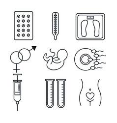 pregnancy maternity medical equipment elements vector image