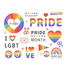 pride lgbt icon vector image