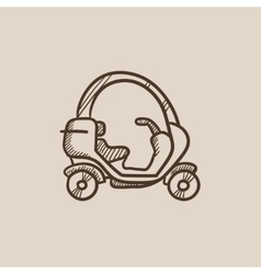 Rickshaw sketch icon vector image