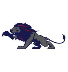 Roaring lion sport logotype vector