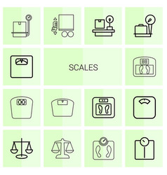 Scales icons vector