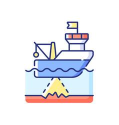 Seafloor mapping rgb color icon vector
