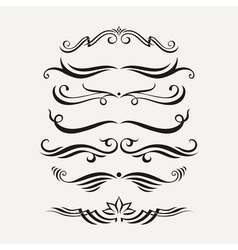 Set of elegant curls and swirls Elements for vector