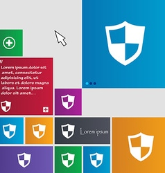 Shield icon sign buttons Modern interface website vector