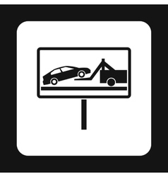 Sign evacuation of cars to impound yard icon vector