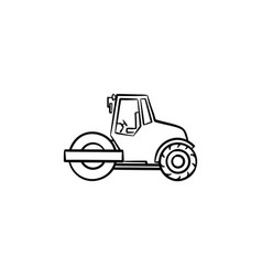 steamroller hand drawn sketch icon vector image