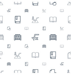 Study icons pattern seamless white background vector