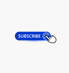 subscribe blue button template for potential vector image