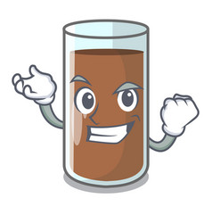 Successful chocolate milk the containing nutrition vector