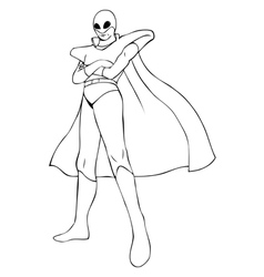 superhero in spacesuit vector image