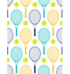 tennis rackets and balls vector image