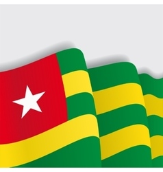 Togo waving flag vector