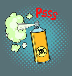 Toxic gas chemical waste vector