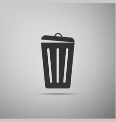 trash can icon isolated garbage bin sign vector image