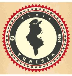 Vintage label-sticker cards of Tunisia vector