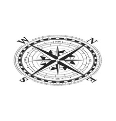 vintage wind rose symbol in isometric view vector image