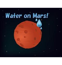 Water on Mars vector