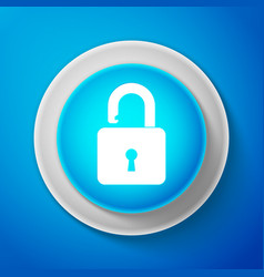 white open padlock icon isolated lock symbol vector image