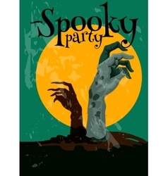 Zombie Spooky Party Halloween poster vector