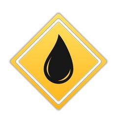 Black Oil Drop Icon vector image