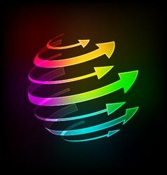 Bright arrows vector image vector image