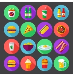 fast food design icons for web and mobile vector image