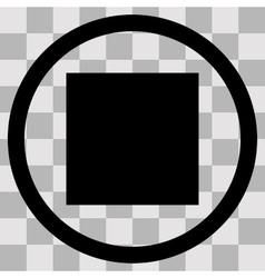 Flat black singl icon pause on transparent vector image vector image