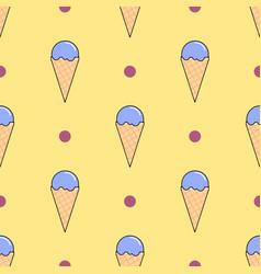 ice cream seamless pattern on yellow flat vector image