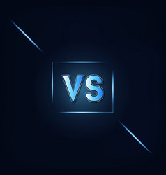 vs dark blue background vector image