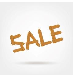 Wooden Boards Sale Word vector image vector image