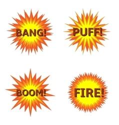 Explosion icon set vector image vector image
