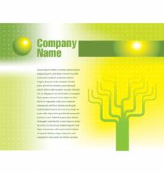 tree page text vector image vector image