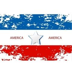 USA star flag design elements vector image vector image