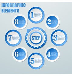Business Info graphic from circles with pointer vector image vector image
