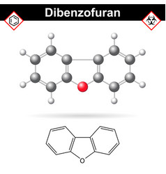 dibenzofuran aromatic chemical compound vector image vector image