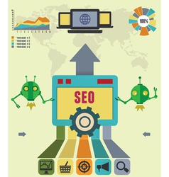 Infographic of seo process vector image