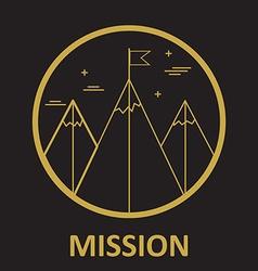 Mission mountain climb logo design template in vector