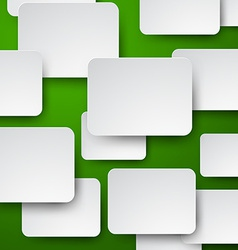 Paper white notes on green vector image vector image