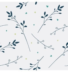 Seamless floral pattern Love vector image