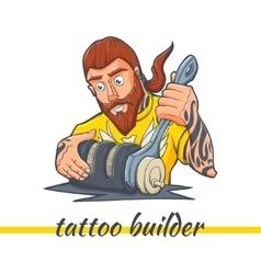 Tattoo machine building vector