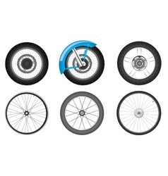 bike wheel set vector image vector image