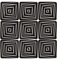 Seamless Black And White Square Line vector image