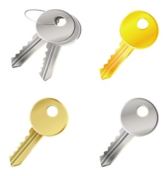 set with keys - safety concept vector image