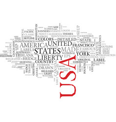 usa word cloud concept vector image
