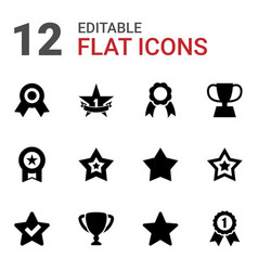 12 best icons vector