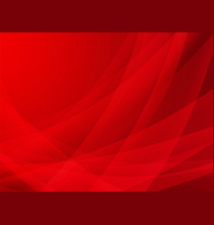 abstract red curve background design vector image