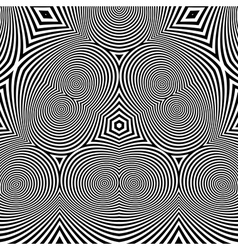 Abstract Striped Background Black and White vector