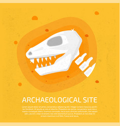 Archaeological site dinosaur icon archaeological vector