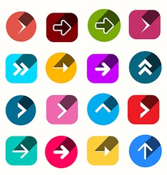 Arrows Buttons - Icons Set vector image